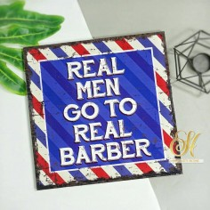 Square MDF Walldecor - Barber