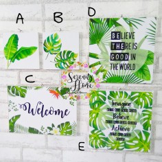 MDF Walldecor Mixed Size 02 - Green Plants