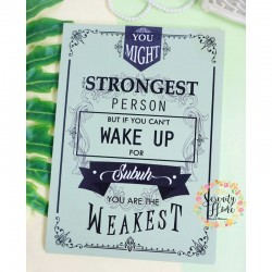 Single MDF Walldecor 48 - The Strongest
