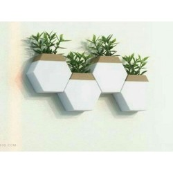 Hexagonal Hanging Vase