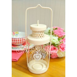 Heartsy Glass Candle Holder
