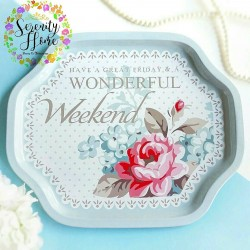 Wonderful Tin Tray/Nampan Kaleng